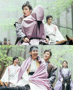 "haha this scene was so cute ^.^ haneul oppa going ""no, i am not protecting IU.... i am protecting byun baekhyun!"""