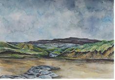 The Burren, Fanore Beach Seaside Village, Irish Art, North Coast, Stunning View, Limited Edition Prints, Watercolour Painting, Art Pieces, Original Paintings, Scene