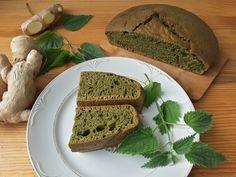 круглый хлеб из крапивы с имбирем