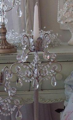 アンティーク照明 フランスアンティーク 妖精のペンダントランプ - Loose chandelier crystals