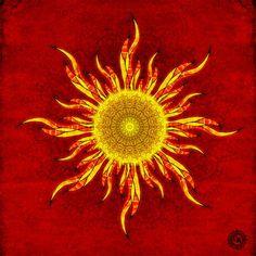 Barbed Sun by CircleArt Sun Rays Tattoo, Mandala Sun Tattoo, Sun Tattoos, Celtic Tattoos, Sleeve Tattoos, Sun Painting, Mandalas Painting, Arte Peculiar, Good Day Sunshine