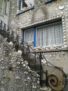 Shell House West England. Would love to see the rest of the house---its not that I'd put shells on my own dream home, I just like the idea of creative freedom to make your house just the way you want it