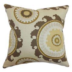 The Pillow Collection Obyan Geometric Pillow Natural - P18-D-PONDEROSA-NATURAL-C95L5