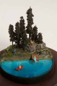Creative dioramas to escape into...reminds me of old fashioned diorama Easter eggs