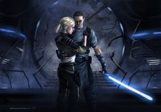 Galen Marek and Juno Eclipse. Once Starkiller and Imperial Pilot, now heroes of the galaxy