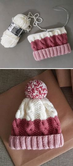 Cozy Cable Knit Hat - Free Pattern - Knitting is as easy as 3 The knitting . Cozy Cable Knit Hat – Free Pattern – Knitting is as easy as 3 Knitting boils down to thre Loom Knitting, Knitting Stitches, Knitting Patterns Free, Free Knitting, Free Crochet, Free Pattern, Knit Crochet, Crochet Patterns, Crochet Hats