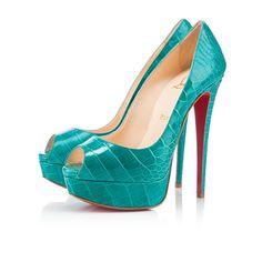 Lady Peep 150 Jade Crocodile...God I love this shoe