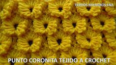 Punto Coronita tejido a crochet paso a paso fácil de tejer para cobijas ...