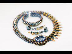 Вечерний комплект с браслетом и серьгами(Часть 1/2) - YouTube