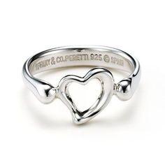 Tiffany & Co Charming Elsa Peretti Open Heart Ring