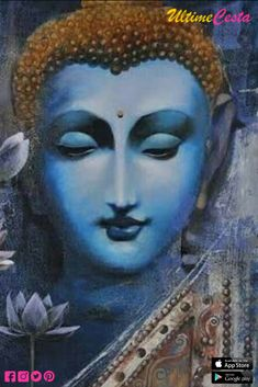 Buy 'Buddha' oil on canvas painting on Ultimecesta. Visit Ultimecesta for more exciting original artwork. Gautama Buddha, Buddha Buddhism, Buddha Art, Ganesha Painting, Buddha Painting, Mural Painting, Acrylic Paintings, Namaste, Karma