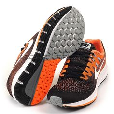 best sneakers 88512 cf66d Nike Air Zoom Structure 20 Black White-Total Orange-Wolf Grey  849576-----10.5. Glo