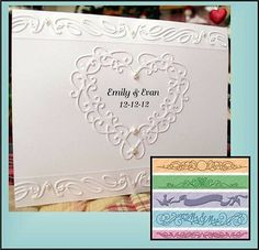 Wedding Borders Embossing Folder Set by Provocraft Cuttlebug ... I LIKE SEEING HOW THE BORDERS ARE USED....I LOVE THE MR & MRS BORDER