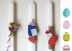Αποτέλεσμα εικόνας για πασχαλινες λαμπαδες 2016 Easter Crafts, Advent Calendar, Diy And Crafts, Holiday Decor, Home Decor, Decoration Home, Room Decor, Advent Calenders, Home Interior Design