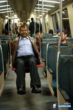 Funny Seat For People in Metro Train http://lmn8.us/dQjDLd6h