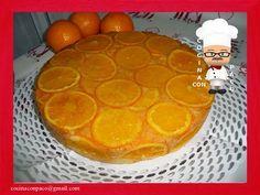 Tarta o pastel de naranja invertida
