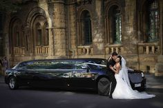Limousine hire Melbourne - ideal wedding transportation for those large bridal parties - always fun!