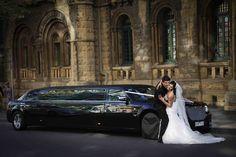 Limousine hire Melbourne - ideal wedding transportation for those large bridal parties - always fun!