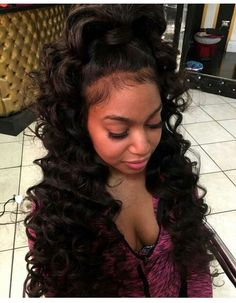 Quality virgin human hair & extensions trusted & recommended by stylists, and backed by the only return policy in the industry. Try Mayvenn hair today! Ponytail Hairstyles, Weave Hairstyles, Pretty Hairstyles, Black Hairstyles For Prom, Amazing Hairstyles, Elegant Hairstyles, Prom Hairstyles, Updos, Love Hair