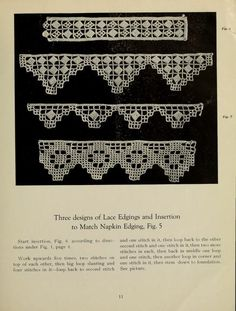 Directions for making Poncetto lace