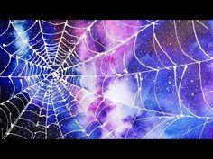 (258) Quick Demo - Spider Web Galaxy Watercolor - YouTube Watercolor Galaxy, Watercolor Paintings, Spider Web Drawing, Galaxy Art, Elementary Art, Still Life, Youtube Youtube, Gouache, World