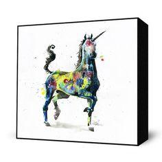 Unicorn Mini Art Block, $26, now featured on Fab. [Print, Lora Zombie]