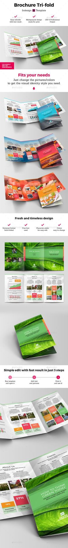 Brochure Tri-fold Indesign Template Green. Download here: http://graphicriver.net/item/brochure-trifold-indesign-template-green/16299059?ref=ksioks