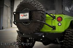 Poison Spyder tire carrier.... Need to get me one of these!  #poisonspyder #bendercustoms #jeep