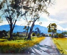 Zebra Art provides the information about the art world. News about painting, photography, illustration, exhibition, sculpture and installation art. Watercolor Landscape Paintings, Watercolor Trees, Watercolor Artists, Abstract Landscape, Abstract Paintings, Oil Paintings, Painting Art, Zebra Art, Art Aquarelle