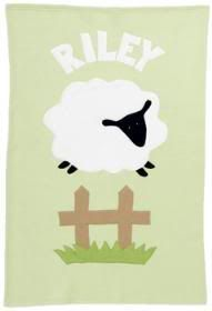 Personalized fleece baby blankets from Admiral Road. They hold up super well!