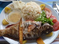 Poisson grille - Cuisine creole - Guadeloupe