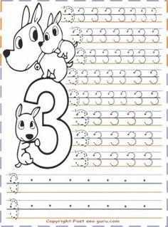kindergarten number 3 tracing worksheets - Printable Coloring Pages For Kids Numbers Kindergarten, Numbers Preschool, Kindergarten Math Worksheets, Preschool Curriculum, Math Activities, Preschool Activities, Homeschooling, Toddler Worksheets, Free Kids Coloring Pages