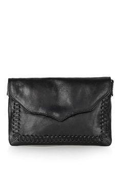 Leather Whip Stitch Crossbody Bag - Topshop