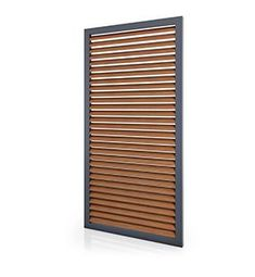 custom made wood louver shutters - Rooftop Terrace Design, Balcony Design, Building Design, Building A House, Louvered Shutters, Timber Screens, Barn Door Designs, Window Detail, House Entrance