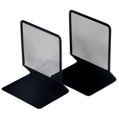 Buy Osco Black Mesh Bookends from our Desk Storage & Desk Accessories range at John Lewis & Partners. Desk Storage, Desk Accessories, Black Mesh, Floor Chair, John Lewis, Bookends, Stuff To Buy, Bedroom, Store
