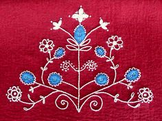 swedish inspired wool embroidery