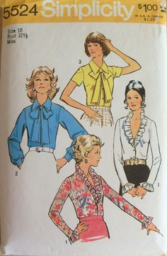 Vintage 1973 Sewing Pattern Simplicity 5524 Womens by GrooveCloth