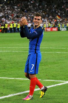 Antoine GRIEZMANN of France during the Uefa Euro Semi final between France and Germany at Stade Velodrome on July 7 2016 in Marseille France French Soccer Players, Good Soccer Players, Football Players, Antoine Griezmann, World Football, Football Soccer, Liga Soccer, Sporting Live, Soccer News