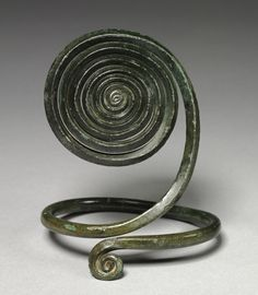 Spiral Armilla, c. 1500 BC Central Europe, Bronze Age, c. 2500-800 BC bronze, wrought, Overall - h:16.50 w:12.10 cm (h:6 7/16 w:4 3/4 inches).