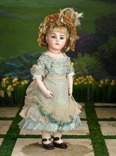 Gorgeous French Bisque Bebe from the Classic Era,Leon Casimir Bru, Signed Shoes 16,000/21,000