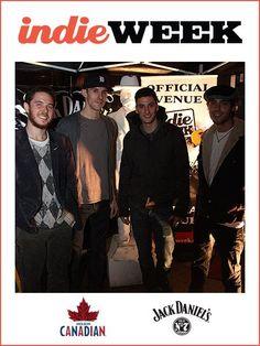 indie rockers ATOM AND THE VOLUMES @Toronto indieweek !!