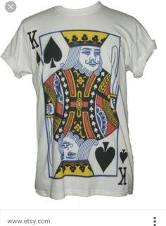 76c79936 King Queen Joker Playing cards Poker TShirt Celebrity Printed T Shirts