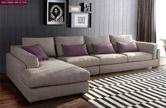Modern Soft L Shape Italian Fabric Sofa Headrest Fashion Designs VIP Sofa