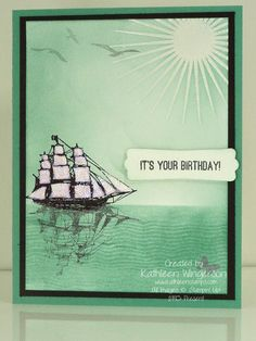 Male Birthday card using The Open Sea, Kinda Eclectic and Chalk Lines
