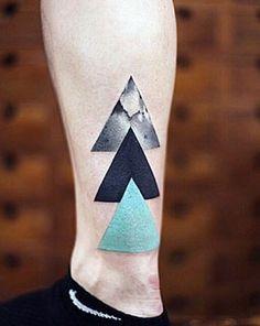 Three Triangles Men's Small Tattoos…