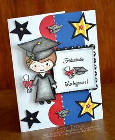 Cards by Patty Tanúz Graduation Cards Handmade, Graduation Crafts, Kindergarten Graduation, Graduation Invitations, Graduation Quotes, Congratulations Card Graduation, Good Day Wishes, Plate Drawing, Preschool Arts And Crafts
