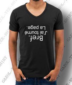 "Tee-shirt ""Bref. J'ai tourné la page."" T-shirt homme 100% cadeau tendance. : Tshirts, polos par gazol-tee-shirt"