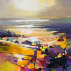 Connections abstract landscape painting by Scott Naismith