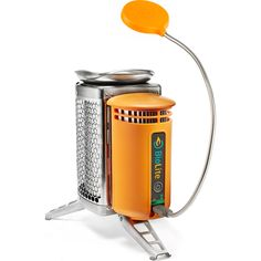 BioLite Multifunctional Camp Stove and Flexlight | Silver/Orange