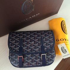 Brand New Goyard Belvedere PM saddle style bag. Full set with receipt purchased from Paris
